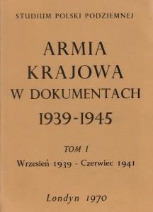 Armia Krajowa w dokumentach t.1