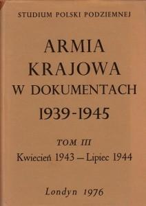 Armia Krajowa w dokumentach t.3