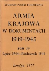 Armia Krajowa w dokumentach t.4
