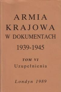 Armia Krajowa w dokumentach t.6