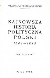 Pobóg-Malinowski, Najnowsza historia..., t. 1, 1953 - Copy