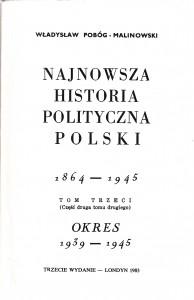 Pobóg-Malinowski, Najnowsza historia..., t. 3_2, wyd2 1983