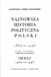 Pobóg-Malinowski, Najnowsza historia..., t. 4_2, wyd2 1986