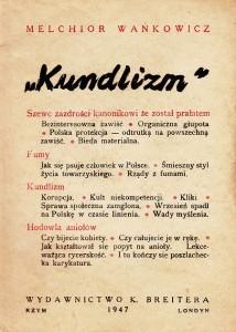 Wańkowicz Kundlizm